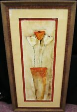 "Janet Richardson-Baughman ""Flower Vase"" Signed Oil on Canvas Painting 41x21"""