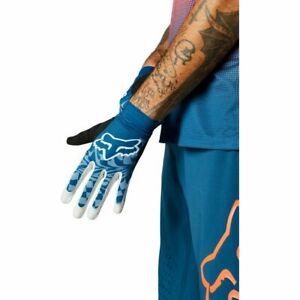 New Fox FLEXAIR ASCENT Mountain Bike Gloves Indigo Blue Large  27606-203-L