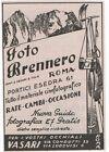Pubblicità epoca FOTO BRENNERO PHOTO PELLICOLE reklame advert werbung publicitè