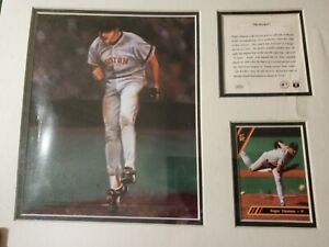 "Roger Clemens  PLAQUE 11"" X 14"" LITHOGRAPH KELLY RUSSELL STUDIOS #1651  1993"