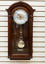 New Sligh Hillcrest Key Wound 8 Day Westminster Chime Cherry Wood Wall Clock