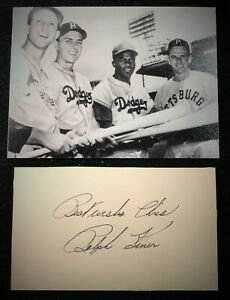 Vintage 1950s Playing Days Ralph Kiner Pirates Signed Card HOF D 2009 JSA Auth