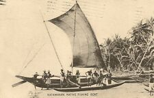 CARTE POSTALE COLOMBO CEYLAN TUCK KATAMARAN NATIVE FISHING BOAT