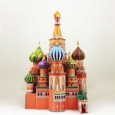 3D St. Basil's Cathedral Puzzle Fun Historical architecture model 224 pc Russia