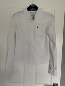 Abercrombie&Fitch Authentic Vintage Women White  Shirt Long Sleeve Size M
