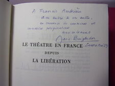 Envoi autographe / Marc BEIGBEDER Le Théâtre en France depuis la Libération.
