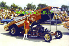 """Chi-Town Hustler"" 1970 Dodge Charger NITRO Funny Car & ""Barb"" PHOTO!"
