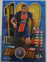 2020/21 Match Attax UEFA Champions League - Kylian Mbappe 100 Club PSG