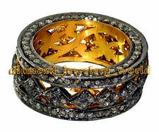 Silver Wedding Eternity Ring Jewelry Victorian 3.58cts Genuine Rose Cut Diamond