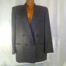 Holt Renfrew by Samuelsohn Mens Black and Gray Tweed 2 Piece Suit