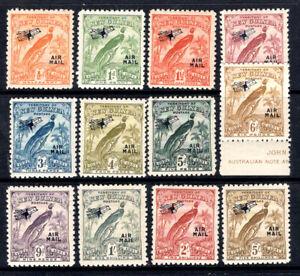 NEW GUINEA KGV 1931 - 12 Bird of Paradise AIRMAIL (short set) to 5/- MM. LOVELY!