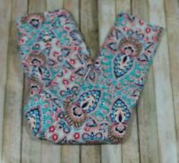 Chico's So Slimming Girlfriend Slim Leg Jeans Womens Size 0 Small 4 Pink Floral