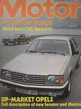 Motor magazine 20/5/1978 featuring Colt Sapporo road test, Opel Senator, Monza