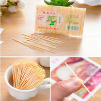 100pcs Two Heads Wood Stick Wooden Bamboo Toothpick Party Cocktail Food Picks