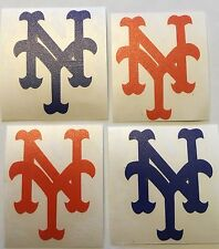 "New York Mets  4 Pack Of Orange & Blue Decals 1.5""x2.0"" Vinyl**FREE SHIPPING**"
