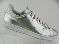 ADIDAS Stan Smith Gold Sz 10 Women Patent Leather Sneakers