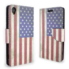 CoverON® For Sony Xperia Z3 Wallet Case - USA Flag Credit Card Folio Cover + LCD