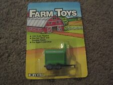 VINTAGE ERTL FARM TOYS GREEN AND WHITE DRY FERTILIZER SPREADER 1986 1/64 NEW FS