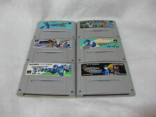 Lot 6 Rock Man Mega Man 7 X X2 X3 Megaman & Bath Forte Soccer Nintendo Japan