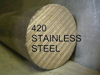 "STAINLESS STEEL SS 420 3/8 x 6"" ROUND ROD BAR STOCK FOR LATHE CNC MACHINE SHOP"