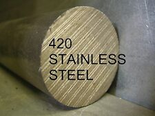 """STAINLESS STEEL SS 420 3/8 x 12"""" ROUND ROD BAR STOCK FOR LATHE CNC MACHINE SHOP"""