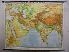 Schulwandkarte Karte Vorderasien Indien Syrien Iran Irak Türkei 193x154 1967 map