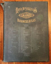 Rand McNally Business Atlas 1909 Color Maps History United States Railroads
