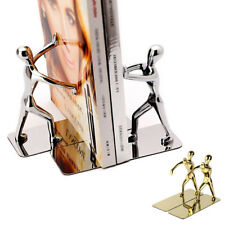 One Pair Stainless Steel Human Shaped Bookends Cool Metal Book End Holder Shelf
