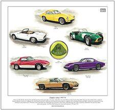 CLASSIC LOTUS 1957-75 - Fine Art Print - Elite Elan Sprint Plus 2 Seven Europa