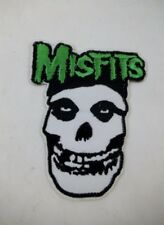 "MISFITS Skull 4"" Iron On Patch Danzig Samhain Black Metal GOTH Deathrock Punk"