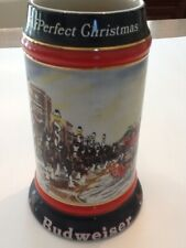 budweiser stein a perfect Christmas beer stein 1992 collector series can bottle