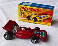 MATCHBOX SUPERFAST #24 MK 4 TEAM MATCHBOX RACING CAR IN RED MAG WHEELS MINT BOX