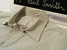 "PAUL SMITH Mens Shirt 🌍 Size M (CHEST 42"") 🌎 RRP £95+ 📮 RED EAR SMALL CHECKS"