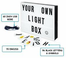MGA Home Cinematic LED Light Box | 96 Letters & Symbols plus 70 Emojis
