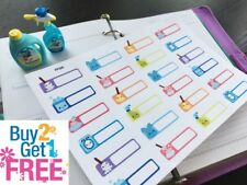 PP348 -- Small Cleaning Reminders Life Planner Stickers for Erin Condren (24pcs)