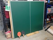 Pool Table Conversion Top To A Tennis/Ping Pong Table With Net And 2 Paddles
