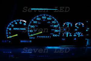 LED KIT for Yukon Silverado Tahoe Suburban GM 95-99 CHEVY CLUSTER Ice Blue