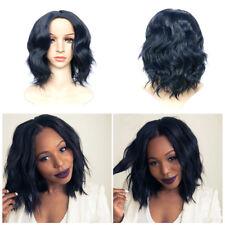Synthetic Glueless Full Lace Hair Wigs For Black Women Brazilian Short Bob Wavy