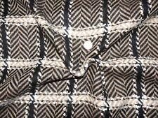 TOPTEX sehr hochwertiger Mantel Stoff Stoffrest Fischgrät/Karo 6,3 m x 1,5 m