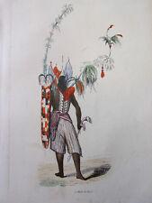 COSTUME OCEANIE / Guerrier de Solor  1847 rehaussée de couleurs