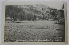 VINTAGE RPPC BAKER CITY OREGON RESCUE OF THE SHIPWRECKED ROWING BOAT PC POSTCARD