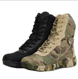 Outdoor Shoes Hiking Mens Tactical Boots Military Battle Combat Army SWAT Boots