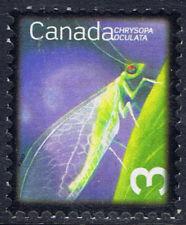 Canada #2235a(2) 2007 3 cent GOLDEN-EYED LACEWING ERROR MNH