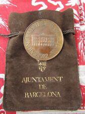 ancienne  medaille bronze barcelona barcelone 1982 esport cultura convivencia