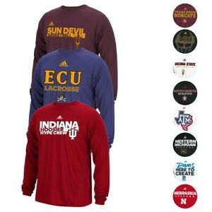 NCAA Adidas Climalite Performance Long Sleeve Men's T-Shirt Collection