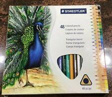Staedtler 48 Triangular Barrel Assorted Colored Pencils, barely used.