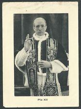 Estampa antigua del Papa Pio XII andachtsbild santino holy card santini