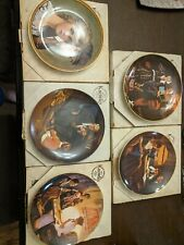 Norman Rockwell Plates - Set of 5