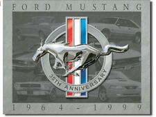 Ford Mustang 35th Anniversary Metal Tin Sign Garage Home Wall Decor New