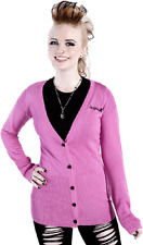 77425 Pink Signature Cardigan Sweater Sourpuss Pinup Rockabilly Retro Medium M